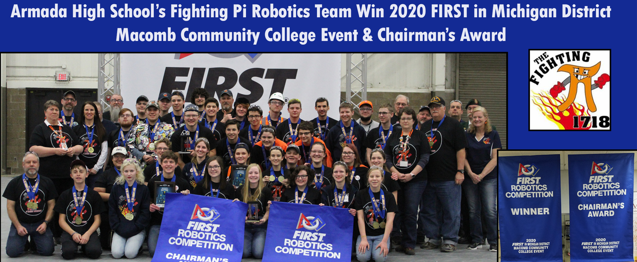 The Fighting Pi Wins FIRST Robotics District Competition
