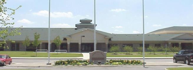 Picture of the front of Krause Elementary School